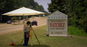 Surveying in Natchez, MS